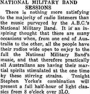 19410127_SheppartonAdv_ABC-Mil-Band-Sessions
