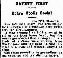 19190419_Sun_Dapto-BB_Flu-Scare