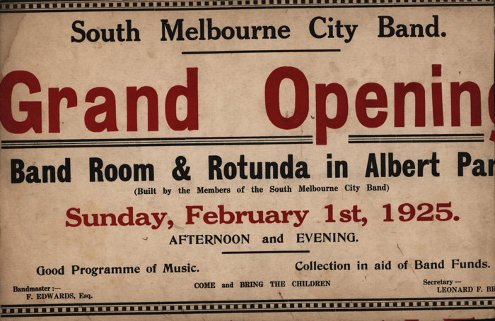 19250201_South-Melbourne-Bandroom-Opening